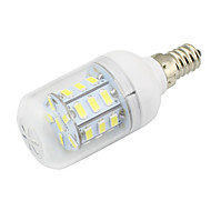 E14 4W Led Corn Bulb Light 27 SMD5730 DC/AC12-24V for Home RV Marine Cool / Warm White (1 Piece)
