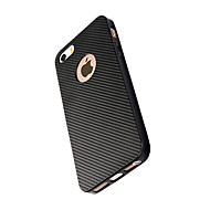 For Apple iPhone 7 Plus 7 Case Cover Shockproof Back Cover Solid Color Soft Carbon Fiber 6s Plus 6 Plus 6s 6 SE 5s 5