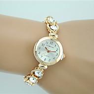 Damers Modeklocka Armbandsklocka Quartz Bergkristall Diamant Imitation Legering Band Berlock Fritid Eleganta Guld Stämpla
