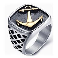 남성용 문자 반지 새해 맞이 패션 의상 보석 티타늄 스틸 보석류 제품 일상 캐쥬얼