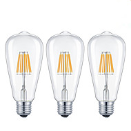 3 pcs-8W E26/E27 LED Filament Bulbs  8 COB 800 lm Warm White /Cool White Dimmable AC 220-240/ AC 110-130 V