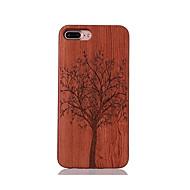 Na Odporne na wstrząsy Wytłaczany wzór Wzór Kılıf Etui na tył Kılıf Drzewo Twarde Drewno na AppleiPhone 7 Plus iPhone 7 iPhone 6s Plus/6