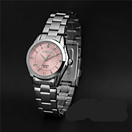 LONGBO 女性用 ファッションウォッチ ダミー ダイアモンド 腕時計 / 模造ダイヤモンド クォーツ 合金 バンド カジュアルスーツ シルバー