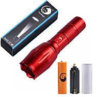 Lampes Torches LED Kits de Lampe de Poche LED 2000 Lumens 5 Mode Cree XM-L T6 18650 AAAIntensité Réglable Faisceau Ajustable Taille
