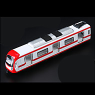 Train Pull Back Vehicles Car Toys 1:10 Metal Plastic Red Model & Building Toy