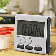 1stk sort firkant magnetisk stort lcd digital køkken timeren tæller up down alarm 24 timer med stativ