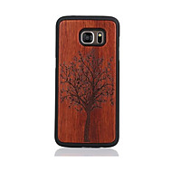 Varten Kuvio Etui Takakuori Etui Puu Kova Puu varten Samsung S7 edge S7