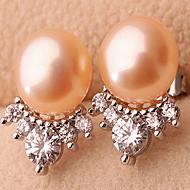 Kolczyki na sztyft Perła Modny Perłowy Stop Biżuteria White Orange Purple Biżuteria Na Casual Sport 1 para