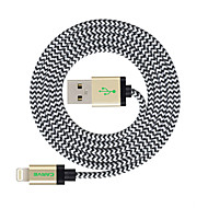Lightning Kabel Opladerkabel Opladerledning Data & Synkronisering Flettet Kabel Til Apple iPhone iPad 300 cm Nylon