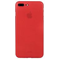 Til Ultratynn Matt Etui Bakdeksel Etui Ensfarget Hard PC til Apple iPhone 7 Plus iPhone 7 iPhone 6s Plus iPhone 6 Plus iPhone 6s iPhone 6