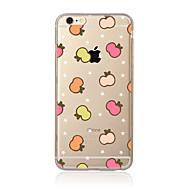 Για Διαφανής Με σχέδια tok Πίσω Κάλυμμα tok Φρούτα Μαλακή TPU για AppleiPhone 7 Plus iPhone 7 iPhone 6s Plus/6 Plus iPhone 6s/6 iPhone