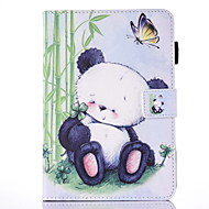For IPad mini1234 Case Cover   Panda Pattern PU Skin Material Flat Protective Shell