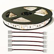 5m 72W 300pcs 5050 4red ve 1blue / grup 4pcs 5050 ışık şeridi konnektörü DC12V bitki ışık şerit led z®zdm