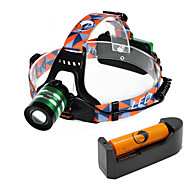 U'king ZQ-G70000DGreen CREE T6 LED 2000LM 3Mode Adjustable Focus Headlamp Bike Light Kit for Camping/Hiking/Caving Everyday Use Cycling