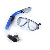 Snorkeling Packages Diving Masks Diving Packages Snorkels Dry Top Diving / Snorkeling Scuba PVC silicone Blue Black-WINMAX