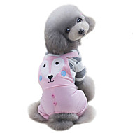 犬用品 Tシャツ ジャンプスーツ 犬用ウェア 夏 春/秋 漫画 キュート スポーツ グリーン ピンク