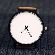 Unisex Fashion Watch Quartz Leather Band Black Brown