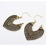 Druppel oorbellen Dangle Oorbellen Liefde Modieus Afrika Vintage Gesneden Europees Legering Hartvorm Bloemvorm Zilver Koper Sieraden Voor
