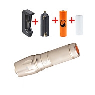 UKing ZQ-X800DGO#-EU 2000LM Cree XM-L T6 LED 5Modes Zoomable Flashlight Torch Kits with 18650 and Battery Charger