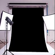 3x5ft schwarzen dünnen Vinyl Fotografie Hintergrund Studio prop Foto Hintergrund