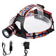 Otsalamput LED 2000 Lumenia 3 Tila Cree XM-L T6 18650 Säädettävä fokusTelttailu/Retkely/Luolailu Päivittäiskäyttöön Pyöräily Metsästys