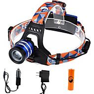 Pannlampor LED 2000 Lumen 3 Läge Cree XM-L T6 18650 Justerbar fokusCamping/Vandring/Grottkrypning Vardagsanvändning Cykling Jakt Resa