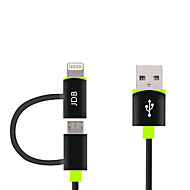 MFI 2 in 1 Micro USB Data Cable Charge Cable for iPhone 7 6s 6 Plus SE 5s 5c 5 iPad 4 mini Android Smart Phone