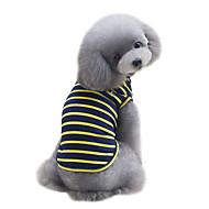 犬用品 Tシャツ ベスト 犬用ウェア 夏 縞柄 キュート ファッション スポーツ イエロー レッド グリーン