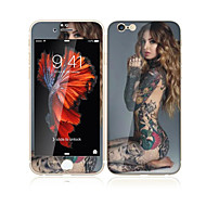 For Apple iPhone 6s Plus/6Plus 5.5 Inch Tempered Glass with Soft Edge Full Screen Coverage Front Screen Protector and Back Protector Sexy Lady Pattern