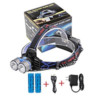 Otsalamput LED 4000 Lumenia 3 Tila Cree XM-L T6 18650 Kompakti koko Hätä mobiili virtalähdeTelttailu/Retkely/Luolailu Päivittäiskäyttöön