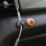 ziqiao 10pcs multifunktionelle klæbende bil oplader line lås klemme hovedtelefon / usb-kabel bil klip interiør tilbehør