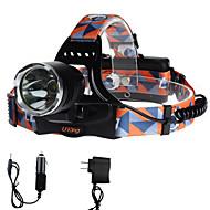 Hodelykter LED 2000 Lumens 3 Modus Cree XM-L T6 18650Camping/Vandring/Grotte Udforskning Dagligdags Brug Sykling Jakt Utendørs Reise