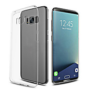 For Ultratyndt Transparent Etui Bagcover Etui Helfarve Blødt TPU for Samsung S8 S8 Plus