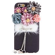 Mert Strassz DIY Case Hátlap Case Virág Puha Textil mert Apple iPhone 7 Plus iPhone 7 iPhone 6s Plus/6 Plus iPhone 6s/6