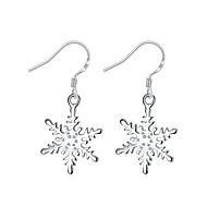 dingle øreringe Krystal Sølvbelagt Geometrisk Blomstformet Sølv Smykker Bryllup Fest Halloween Daglig Afslappet 1 par