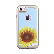 For Apple iPhone 7 7 Plus 6S 6 Plus Case Cover Sunflower Flower Pattern Painted TPU Material Plating PC Frame Combo Phone Case