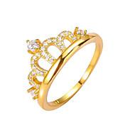 Båndringe Ring Mote Vintage Kobber Krone Formet Gull Smykker Til Bryllup Fest Engasjement 1 stk