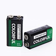 färgrik 9v zink torrcellsbatteri 9v 10 pack