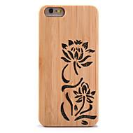 Na Odporne na wstrząsy Wytłaczany wzór Kılıf Etui na tył Kılıf Brokat Kwiat Twarde Bambus na AppleiPhone 6s Plus iPhone 6 Plus iPhone 6s