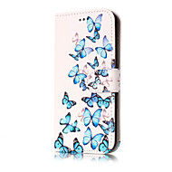For Samsung Galaxy J5(2017) J3(2017) PU Leather Material Orchid Pattern Painted Phone Case J7(2016) J7 J5(2016) J5 J3(2016) J3
