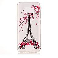 Mert IMD Átlátszó Minta Case Hátlap Case Eiffel torony Puha TPU mert Samsung S8 S8 Plus S7 edge S7 S6 edge S6 S5