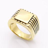 指輪 幾何学形 ダブルレイヤー ファッション ビンテージ あり Rock 欧米の チタン鋼 ゴールド シルバー ジュエリー のために パーティー Halloween 日常 カジュアル クリスマスギフト 1個