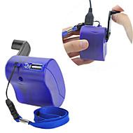 usb handvev manuell dynamo mobiltelefon laddare nödsituation för mp4 mp3 mobila pda-- blå