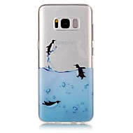 For IMD Transparent Mønster Etui Bagcover Etui Dyr Blødt TPU for Samsung S8 S8 Plus S7 edge S7 S6 edge S6 S5