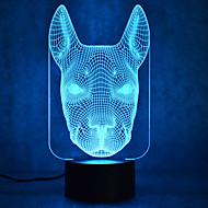 jul hund kontakt mörkläggning 3D LED nattlampa 7colorful dekoration atmosfär lampa nyhet belysning jul ljus