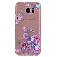 For Transparent Mønster Etui Bagcover Etui Blomst Blødt TPU for Samsung S8 S7 edge S7 S6 edge S6 S5 Mini S5