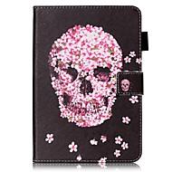 Pour Etuis coque Portefeuille Porte Carte Avec Support Clapet Motif Coque Intégrale Coque Crânes Dur Cuir PU pour AppleiPad Mini 4 iPad