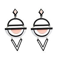 Druppel oorbellen Acryl Modieus PERSGepersonaliseerd Acryl Legering Cirkelvorm Ronde vorm Geometrische vorm Zwart Geel Groen Roze+Wit