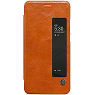 のために ウィンドウ付き オートオン/オフ フリップ ケース フルボディー ケース ソリッドカラー ハード PUレザー のために Huawei Huawei P10 Plus Huawei P10 華為メイト9プロ
