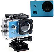 Action Kamera / Sportskamera 16MP 640 x 480 1920 x 1080 1280 x 720 LED Vandtæt USB G-Sensor Vidvinkel Alt i en Justérbar 60fps Nej 2 CMOS